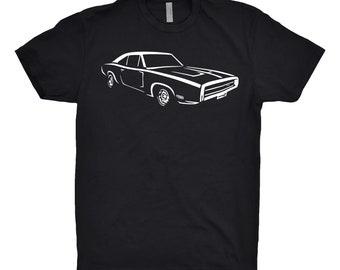 1970 Dodge Charger Shirt, Car Enthusiast, Classic Car Shirt, Hand Drawn, Dodge Charger Shirt, Car Gift, 1970 Charger Shirt