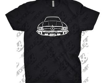 1989 Mercedes Benz 560 SL Shirt, Car Enthusiast, Gift, 1989 Mercedes 560 SL Shirt, Car Art, Hand Drawn, Mercedes Shirt