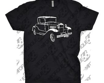 Classic Car Shirt of Ford Model A, Car Enthusiasts, Unisex, Hand Drawn, Art, Ford Model A Shirt, Ford Shirt, Gear Head, Ford Model A Hoodie