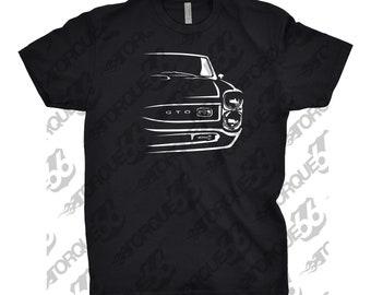 Classic Car Shirt of 1965-1966 Pontiac GTO, Car Enthusiast, Pontiac Gto Shirt, Car Art, Gift, 1965 1966 1967 Pontiac GTO, Hand Drawn