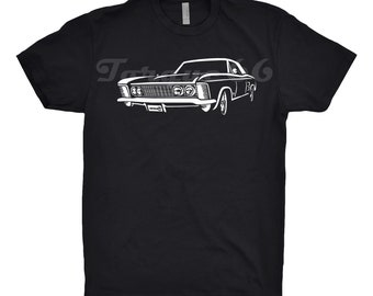 1964 Buick Riviera Shirt, Car Enthusiast, Buick Riviera Shirt, 1963 1964 1965 1966 Buick Riviera Shirt, Classic Car Shirt, Hand Drawn,