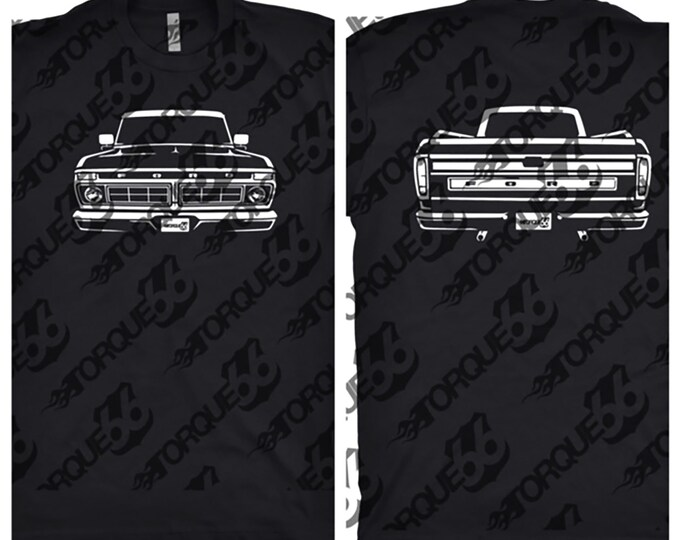 1977 Ford f100, Car Enthusiast, Car Art, 1977 Ford F100 Shirt, Vintage Ford Shirt, Car Gift, 1977 Ford F100 Front and Back Shirt