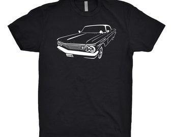 Classic Car Shirt of 1960 Pontiac Bonneville Shirt, Car Enthusiast, Pontiac Shirt, Pontiac Bonneville Shirt, Car Art, Hand Drawn