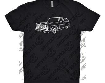 1977 GMC Shirt, Car Enthusiast, Car Art, Hand Drawn, 1977 GMC, 1977 GMC Jimmy, Gift, Classic Car Shirt