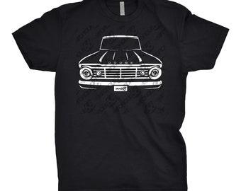 Classic Car Shirt of a 1967 Dodge Truck, Car Enthusiast, Dodge d100 Shirt, 1963 1964 1965 1966 Dodge d100 Shirt, Classic Car Shirt, Car Art