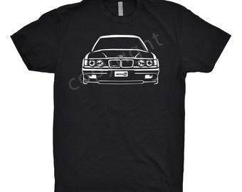 BMW 635 Shirt, Car Enthusiast, Classic Car Shirt, 1985 1986 1987 1988 1989 BMW Shirt, Car Art, BMW 535 Shirt, Hand Drawn bmw Shirt