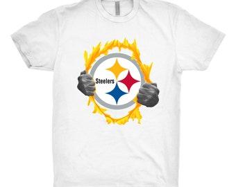 Pittsburgh Steelers, Pittsburgh Steelers Shirt, Pittsburgh Steelers Gift, Pittsburgh Steelers Tear Shirt