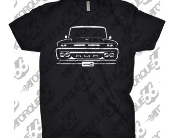 Classic Car Shirt of 1965 GMC Truck, Car Enthusiast, GMC Shirt, 1964 1965 1966 GMC Shirt, Gift, Hand Drawn, Car Art, 1966 gmc shirt