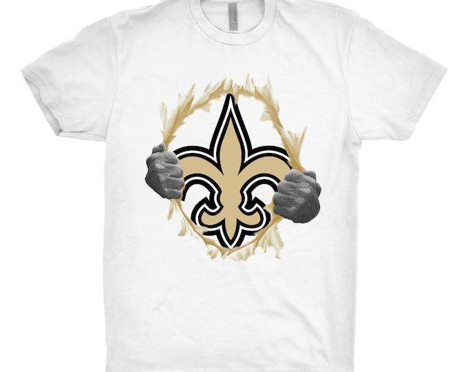 New Orleans Saints, New Orleans Saints Shirt, New Orleans Saints Gift, New Orleans Saints Tear Shirt