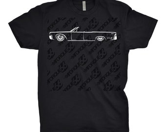 Classic Car Shirt of 1964 Lincoln Continental, Lincoln Continental Shirt, Lincoln Continental Convertible Shirt, Classic Car Shirt, Car Art