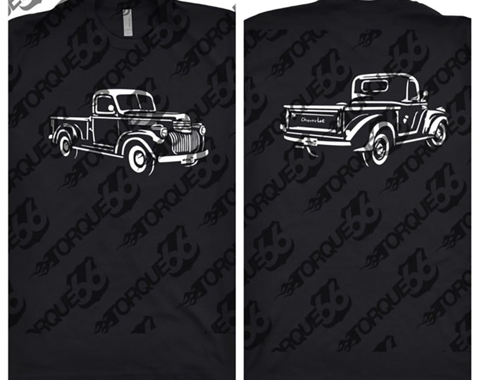 1941 Chevy Truck, Car Enthusiast, Car Art, 1941 Chevy Truck Front and Back, 1941 Chevy Pick Up, 1941 Chevy Truck Shirt, Gift