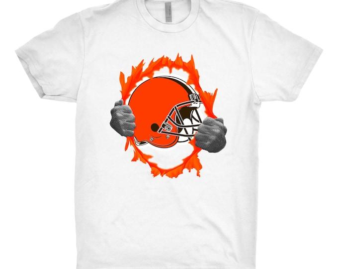 Cleveland Browns, Cleveland Browns Shirt, Cleveland Browns Gift, Cleveland Browns Tear Shirt, Browns Shirt
