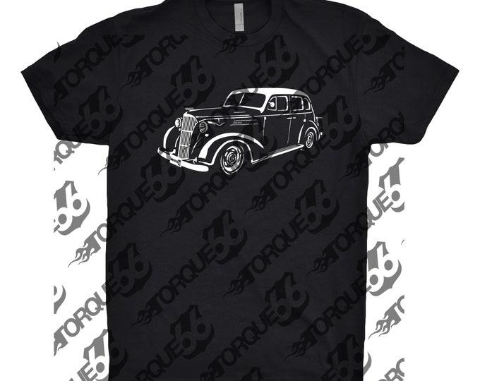 1937 Chevy Master Sedan, Car Enthusiast, Car Art, 1937 Chevy Master Sedan Shirt, 1937 Chevy Shirt, 1937 Chevy Four Door Master Sedan, Gift
