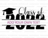 Class Of 2022 SVG Hats Off To The Grad Graduation 2022 Svg Split Monogram Class Of 2022 Svg Graduation Cap Svg Clipart Cricut Silhouette