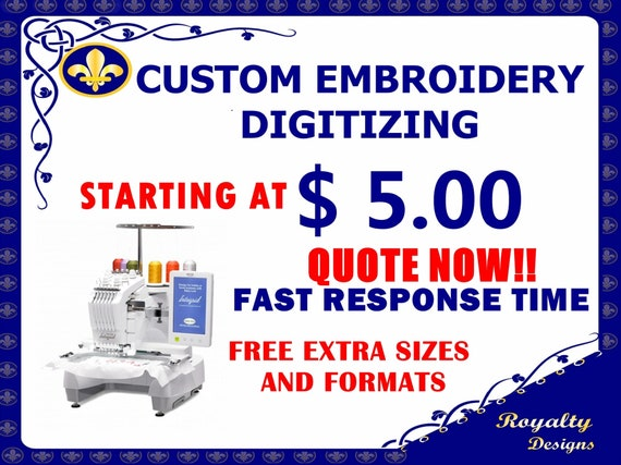 Custom embroidery digitising complex and photographic