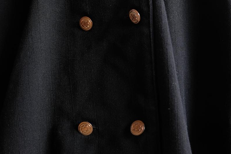 Vintage black midi dress Retro preppy dress