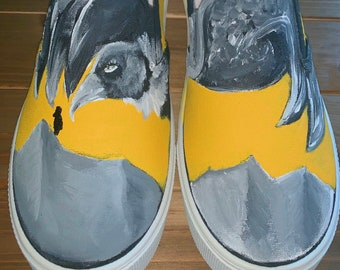 2cb1f7f30edf33 Trench Painted Canvas Shoes