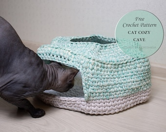 """You will need 3 9"""" round hoops or more if you make a longer tunnel…   Cat  tunnel, Crochet cat toys, Muffin cat   270x340"""