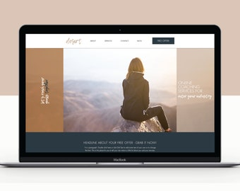 Wix Website Template The Dreamer Photographer Website | Etsy