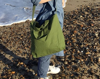 Baggage hand made dry oilskin lined bag