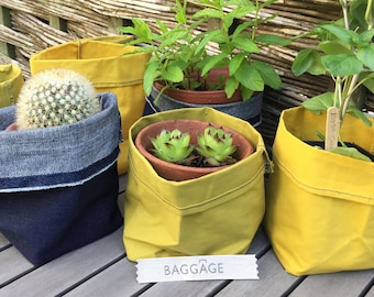Colourful Storage Pots, hand made by 'Baggage'