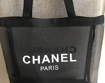 c27ac21b7202e6 Chanel inspired shopper's tote in mesh