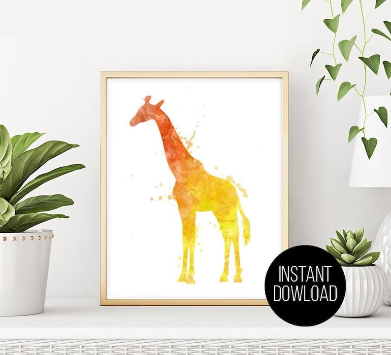 Giraffe Print Lake House Decor Gift Fine Art