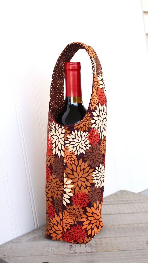Set of 3 Brown Thank You Wine Bottle Bag