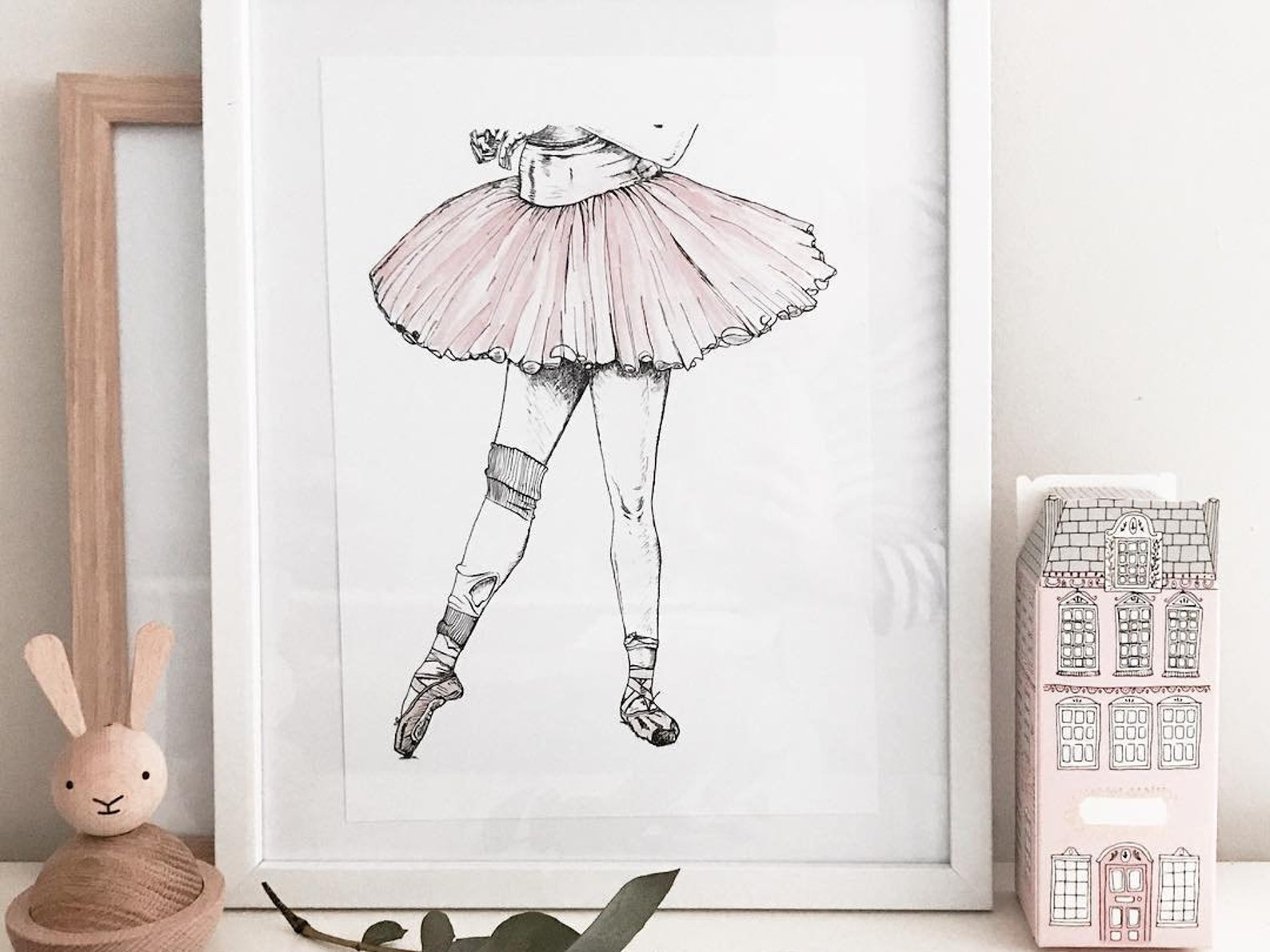 ballet art print pink tulle tutu ballet art print ballet shoes point girls room nursery