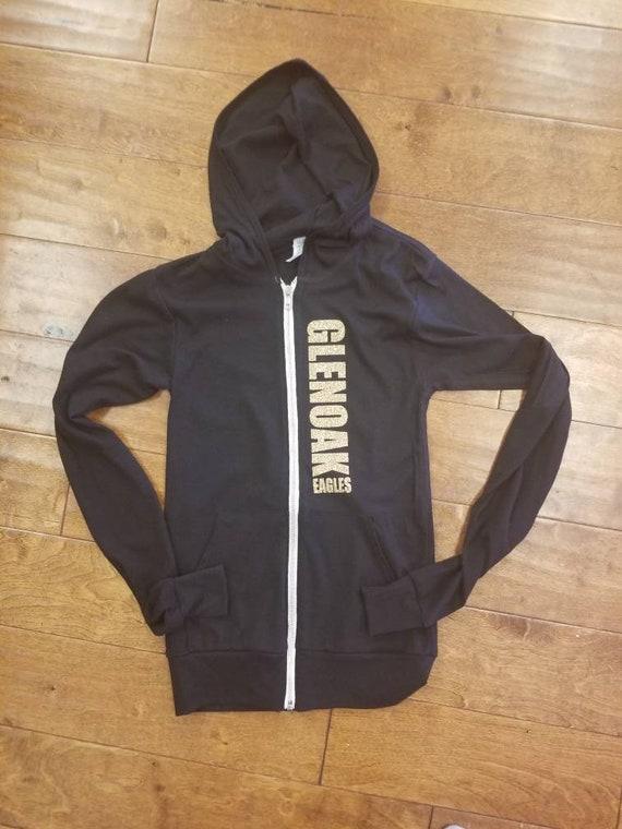 huge selection of 9d01c d063e GlenOak Eagles zip up lightweight hoodie, high school design hoodie, custom  zip up hoodie.