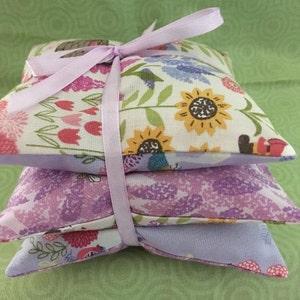 Lavender Sachets Pink Vintage Cameo Rose Fabric Pumpkins Fresh Lavender Sachets Handmade Home Decor BFF Gift sewbuzyb