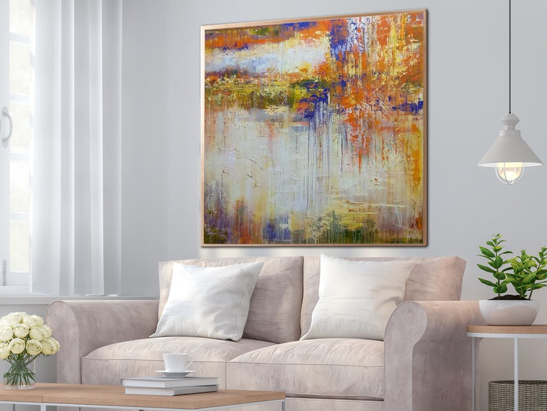 Yellow Painting Oil Painting Canvas Wall Art Abstract Art Painting Large Canvas Wall Art Large Canvas Painting Living Room Wall Art