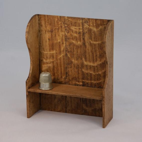 Magnificent Jacobean Style Dolls House Miniature Oak Small Settle Beatyapartments Chair Design Images Beatyapartmentscom