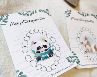 Cards my little quenottes, baby tooth, personalized