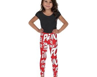 LOTS-O-POW Junior Yoga Leggings by Todd Gray RED  Leggings  Yoga Leggings  Juniors Leggings  Kids Leggings  Youth Clothing