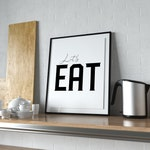 Let's Eat | Printable | Wall Art | Instant Download | Home Decor | Sign | Colorful | Dining Room | Typography | Kitchen Art | Kitchen Decor
