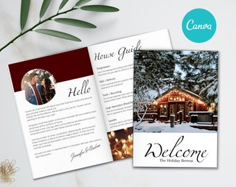 Airbnb Welcome Book Template, 22 Page Host Guidebook, Canva Template, AirBnb, VRBO, AirBnb Host,  Home Rental, Vacation Guide, Guest Book