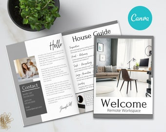 Airbnb Welcome Book Template, 20 Page Host Guidebook, Canva Template, AirBnb, VRBO, AirBnb Host,  Home Rental, Vacation Guide, Guest Book