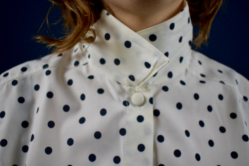 Polka black dot shirt original vintage