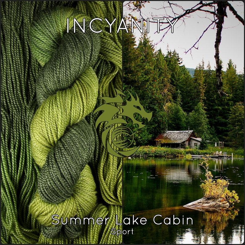 Green Bamboo Sport Yarn Olive Hand Dyed Wool 2 Ply Merino image 0