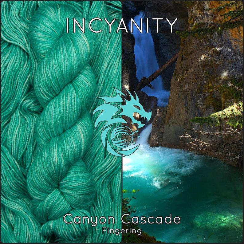 Merino Nylon Sock Yarn Hand Dyed Teal Superwash Yarn Mint image 0