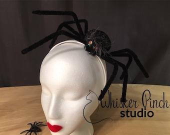 Spider fascinator hats Halloween Headband hats Halloween Spider hat Halloween Fascinator Halloween costume Halloween witch