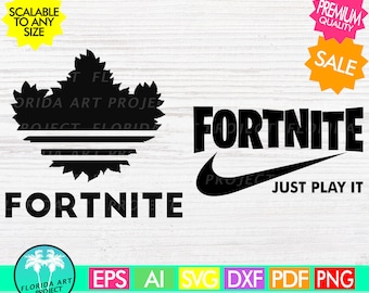 Fortnite Adidas Nike SVG | Instant download | commercial use | Cut File | printable | Silhouette Cricut | Gamer Fortnight Just play it