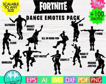 Fortnite +100 Dance Emotes  SVG Cut File | commercial use | Instant download | Gamer| printable Clipart | Silhouette Cricut | Fortnight Emot