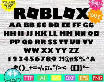 Roblox Font SVG Cut File | Instant download | Gamer Typo SVG | printable Clipart | Roblox Logo SVG | Silhouette Cricut commercial use