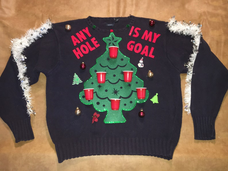 Any Hole is My Goal 3D-Beer Pong-Dirty Ugly Funny Christmas image 0