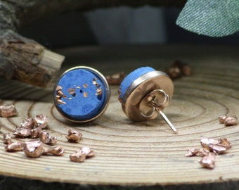 Concrete stud plugs in rose gold in durable stainless steel