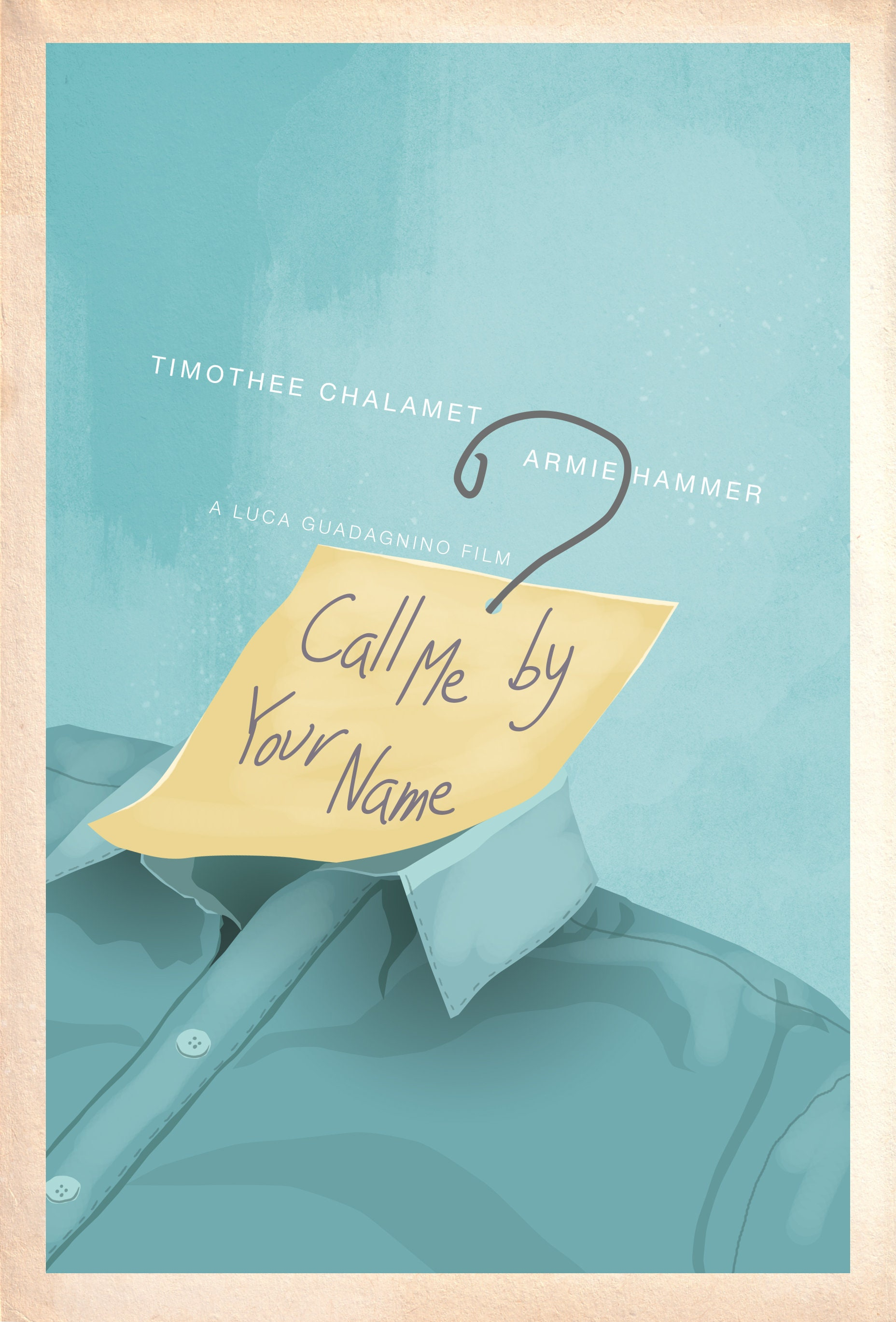 Minimalist Poster Design Of Call Me By Your Name Etsy