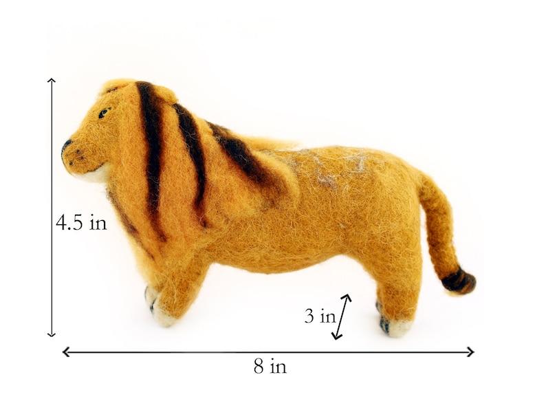 Wool Felt Lion Toy Lion art and decoration,
