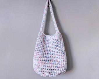 READY TO SHIP: Summer Market Tote / Mesh Market Bag / Beach Bag / Crochet Market Tote / Crochet Summer Bag